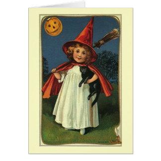 Cartão de nota feliz do Dia das Bruxas