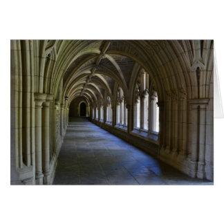 Cartão de nota gótico do renascimento