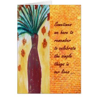 Cartão de nota inspirador