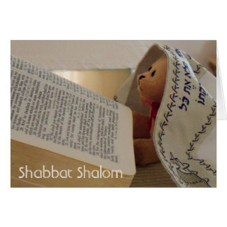 Cartão de nota judaico de Shabbat Shalom do tallit