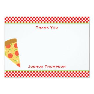 Cartão de nota liso da pizza convite 12.7 x 17.78cm