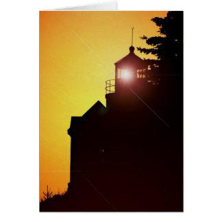 Cartão de nota - luz baixa do porto