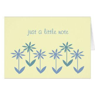 Cartão de nota - margaridas simplesmente azuis