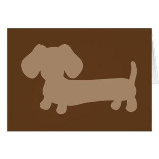 Cartão de nota masculino dos Dachshunds de Brown