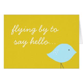 Cartão de nota moderno do pássaro