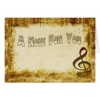 Cartão de nota musical
