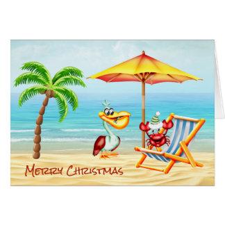 Cartão de nota náutico do Natal do divertimento