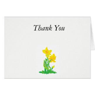 Cartão de nota/obrigado você