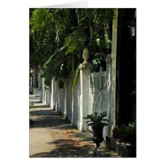 Cartão de nota obscuro da caminhada de Charleston