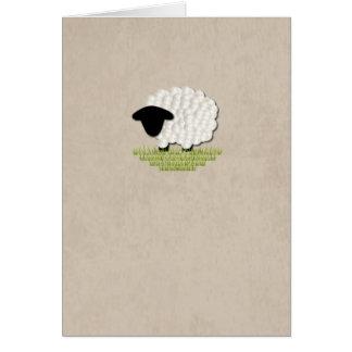 Cartão de nota pequeno do vazio do cordeiro (5