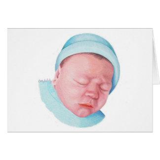 Cartão de nota recém-nascido