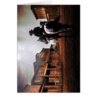 Cartão de nota solitário do cavaleiro