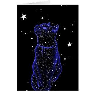 Cartão de nota Stargazing do gato