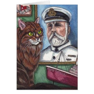 Cartão de nota titânico do CAT de RACUM de MAINE