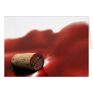 """Cartão de nota """"UnCorKed"""" dos amantes de vinho"""