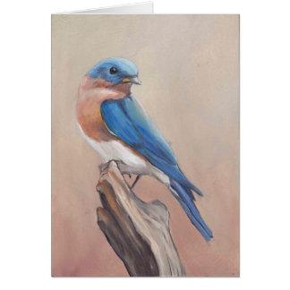 """Cartão de nota vazio da arte do """"Bluebird"""""""