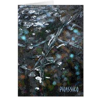 Cartão de nota vazio das cores subtis da arte