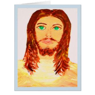 Cartão de nota vazio precioso de Jesus