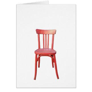 Cartão de nota vermelho da cadeira