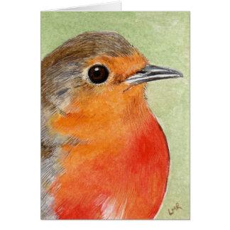 Cartão de nota vermelho da pintura do peito do