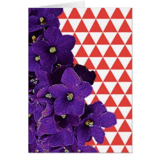 Cartão de nota vermelho de Frameable da pirâmide