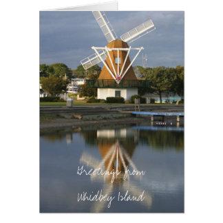 Cartão de nota WM2014 da reflexão do moinho de