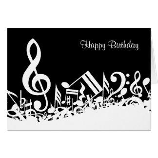 Cartão de notas musicais misturado customizável