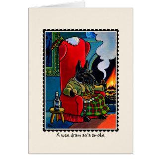 Cartão  de Notecard do cão de Terrier do Scottish