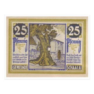 Cartão de Notgeld do vintage