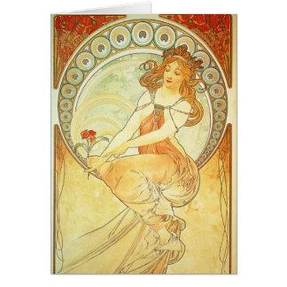 Cartão de Nouveau da arte