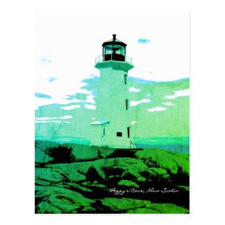 Cartão de Nova Escócia Canadá da angra de Peggy