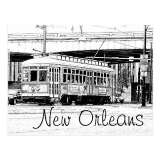 Cartão de Nova Orleães - carro de trole