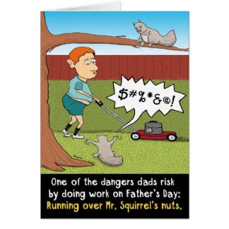 Cartão de noz do esquilo do dia dos pais engraçado