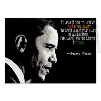 Cartão de Obama