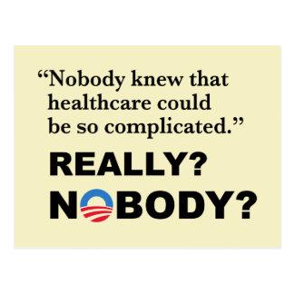 Cartão de Obamacare do Anti-Trunfo