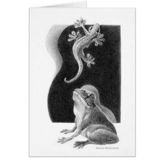 Cartão de observação do geco