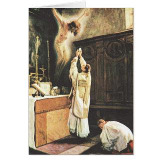 Cartão de oferecimento maciço católico