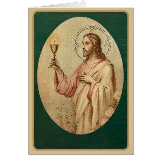 Cartão de oferecimento maciço católico do coração