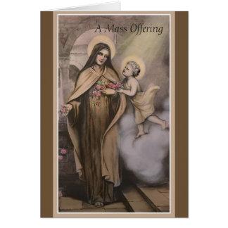 Cartão de oferecimento memorável maciço do St.