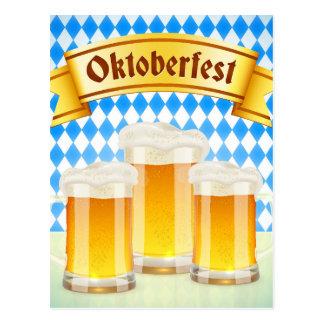 Cartão de Oktoberfest com cerveja