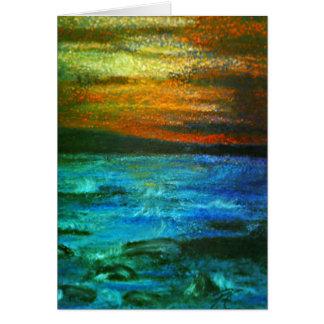 Cartão de Ondes Coucher De Soleil