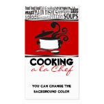 Cartão de ondulação do cozinheiro chefe do vapor d modelo cartão de visita