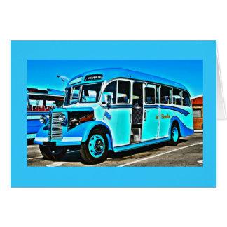 Cartão de ônibus de Bedford do vintage