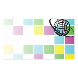 cartão de ônibus de néon do bloco do globo cartoes de visitas