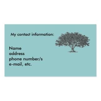 Cartão de ônibus - pesquisa da árvore genealógica cartao de visita