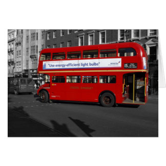 Cartão de ônibus vermelho de Londres