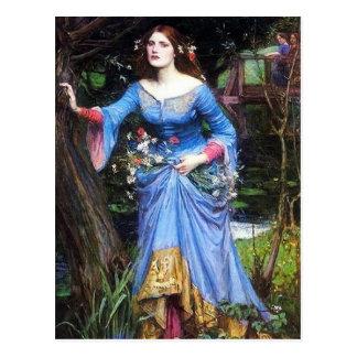 Cartão de Ophelia do Waterhouse