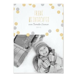 Cartão De ouro brilho fotografia postal de natal