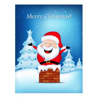 Cartão de Papai Noel do Feliz Natal
