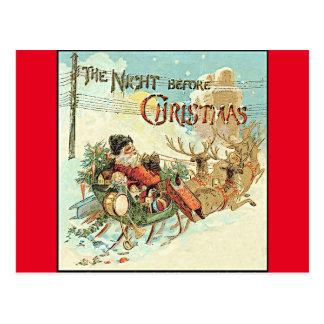 Cartão de Papai Noel do vintage do Natal do pai
